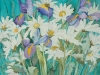 White Daisies with Japanese Irises